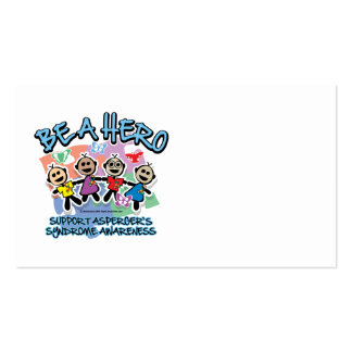 Asperger's Syndrome Be A Hero Business Card Template