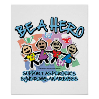 Asperger's Syndrome Be A Hero Poster