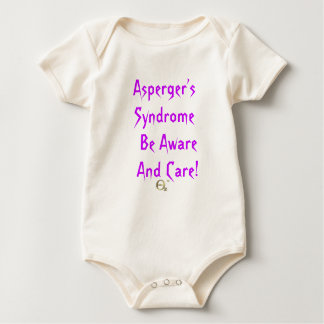 Asperger's Syndrome Be Aware and Care! Baby Bodysuit