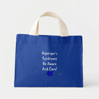 Asperger's Syndrome Be Aware and Care! Mini Tote Bag
