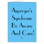 Asperger's Syndrome Be Aware And Care! Stationery Note Card