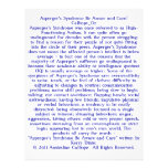Asperger's Syndrome Be Aware and Care! Custom Flyer