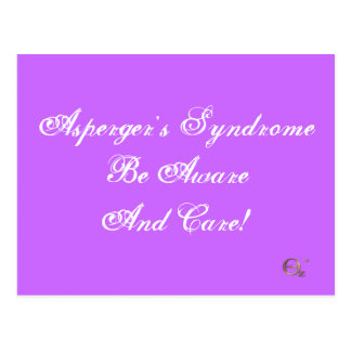 Asperger's Syndrome Be Aware And Care! Postcard