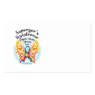 Asperger's Syndrome Butterfly 3 Business Cards