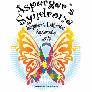 Asperger's Syndrome Butterfly 3 Cutout