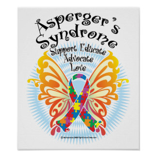 Asperger's Syndrome Butterfly 3 Poster