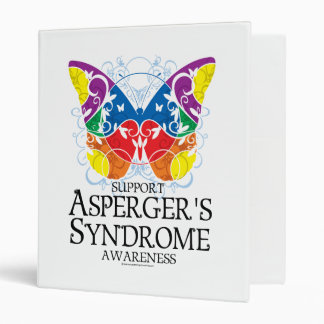 Asperger's Syndrome Butterfly 3 Ring Binder