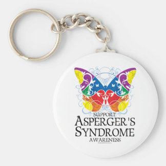 Asperger's Syndrome Butterfly Basic Round Button Keychain