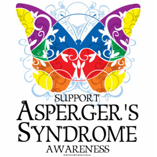 Asperger's Syndrome Butterfly Standing Photo Sculpture