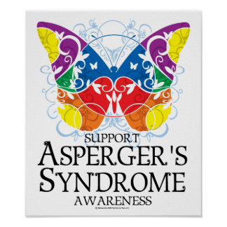 Asperger's Syndrome Butterfly Poster