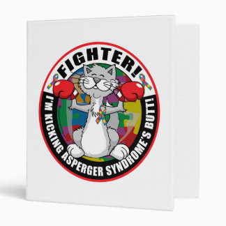 Asperger's Syndrome Cat Fighter 3 Ring Binder