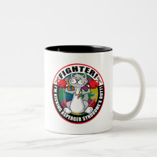 Asperger's Syndrome Cat Fighter Two-Tone Coffee Mug