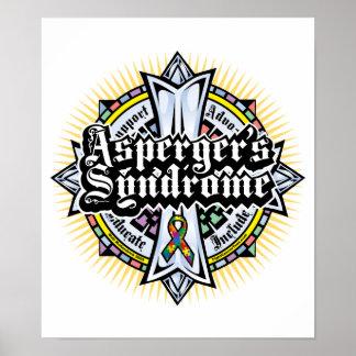 Asperger's Syndrome Celtic Cross Poster