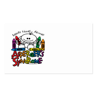 Asperger's Syndrome Crayons Business Cards