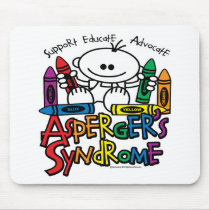 Asperger's Syndrome Crayons Mouse Pad