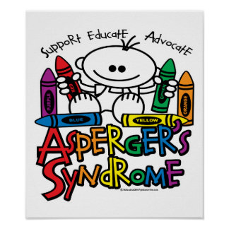 Asperger's Syndrome Crayons Poster