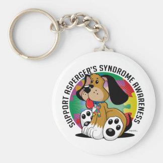 Asperger's Syndrome Dog Basic Round Button Keychain
