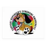 Asperger's Syndrome Dog Postcard