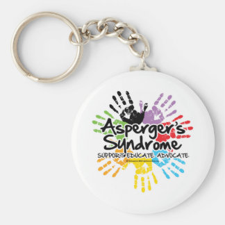 Asperger's Syndrome Handprint Basic Round Button Keychain