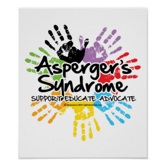 Asperger's Syndrome Handprint Posters