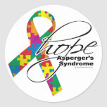 Asperger's Syndrome Hope 2 Classic Round Sticker