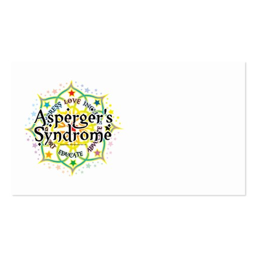 Asperger's Syndrome Lotus Business Card