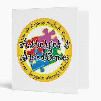 Asperger's Syndrome Puzzle Pin Binder