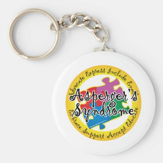 Asperger's Syndrome Puzzle Pin Keychain