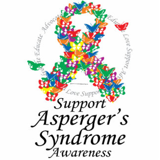 Asperger's Syndrome Ribbon of Butterflies Cutout
