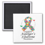 Asperger's Syndrome Ribbon of Butterflies Fridge Magnet