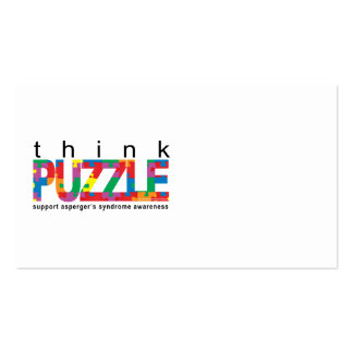 Asperger's Syndrome Think PUZZLE Business Card Template