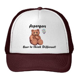 Aspergers Thinking Bear Trucker Hat