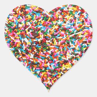 Asperja a los pegatinas pegatina en forma de corazón