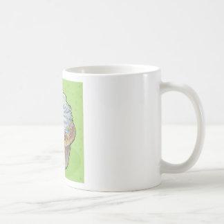 Asperja en verde taza de café