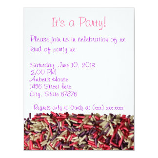 Asperja la invitación del fiesta