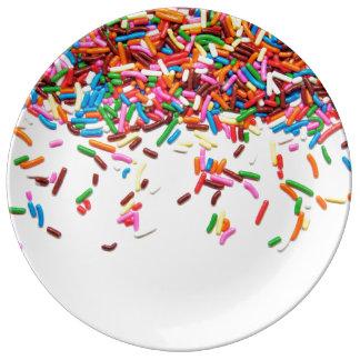 Asperja la placa platos de cerámica