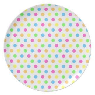 Asperje la placa del punto platos