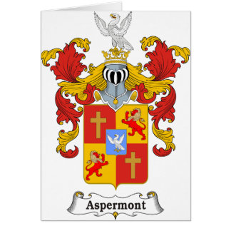 Aspermont Family Hungarian Coat of Arms Card