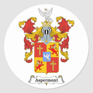 Aspermont Family Hungarian Coat of Arms Classic Round Sticker