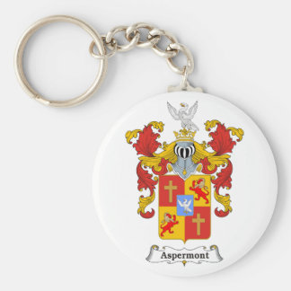 Aspermont Family Hungarian Coat of Arms Keychain