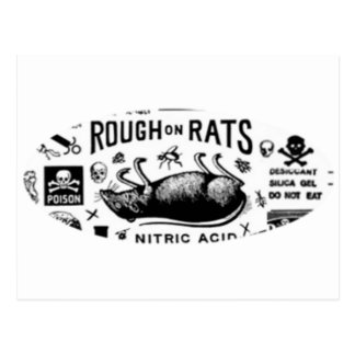 Áspero en ratas postal