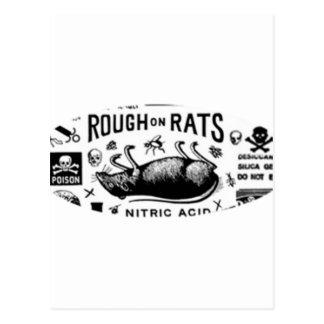 Áspero en ratas postales
