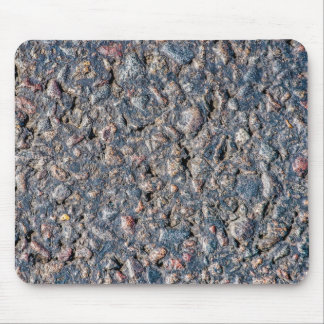 Asphalt and pebbles texture mouse pad