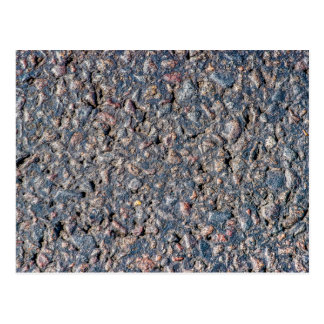 Asphalt and pebbles texture postcard