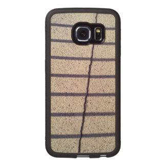 Asphalt and shadow wood phone case