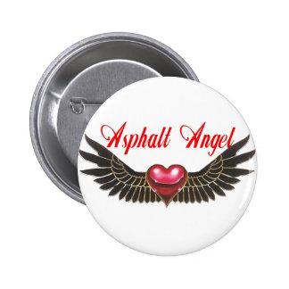 asphalt angel 2 inch round button