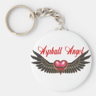 asphalt angel keychain