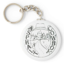 Asphalt Cowboy logo keychain