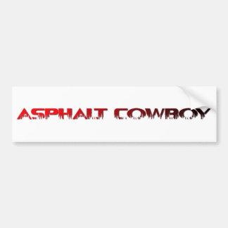 Asphalt Cowboy Red Name Line 1 Bumper Sticker