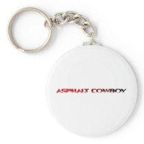 Asphalt Cowboy Red Name Line 1 Keychain